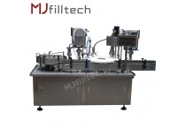 Automatic vials filling and capping machine